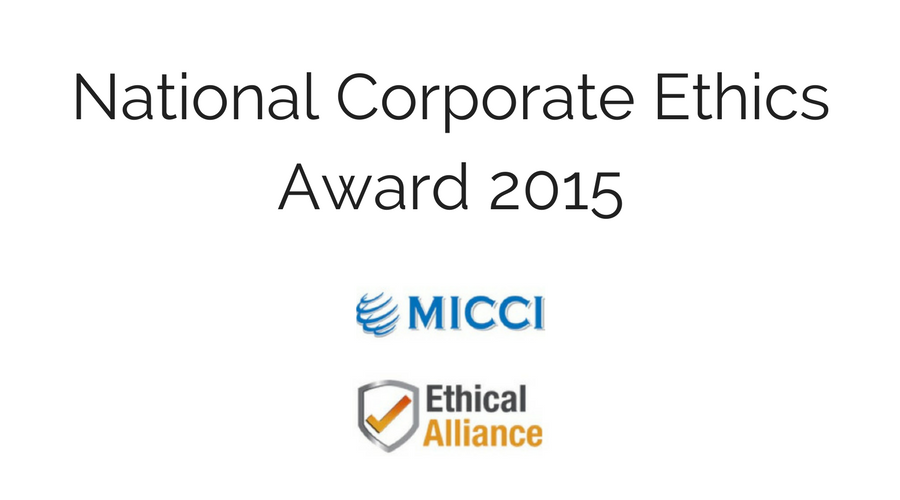 National Corporate Ethics Award 2015