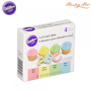 WILTON, Gel Food Colour Set, Pastel Colours, 4 Colours