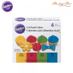 WILTON, Gel Food Colours Set, Primary Colours, 4 Colours (2)