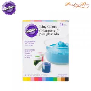 WILTON, Icing Gel Food Colour Set, 12 Colours