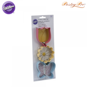 wilton cookie cutter set flowers