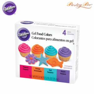 wilton gel food colours 4 bright neon colours