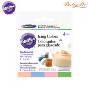 wilton icing colour set 4 pastel colours